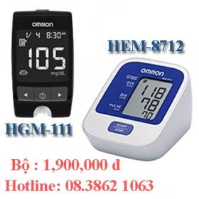 Bộ đường huyết HGM-111 và huyết áp HEM-8712