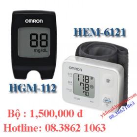Bộ đường huyết HGM-112 và huyết áp HEM-6121